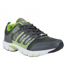 Cefiro Grey Green Sports Shoes for Men - CSS0017